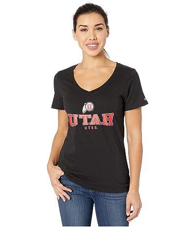 Champion College Utah Utes University V-Neck Tee (Black 2) Women
