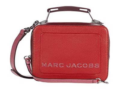 Marc Jacobs The Box 20 Textured Color Blocked (Lipstick Red Multi) Handbags