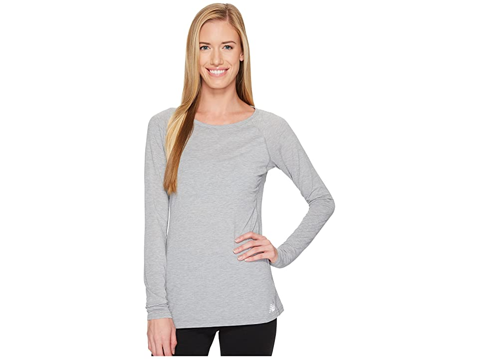 New Balance Long Sleeve Layer Top (Athletic Grey) Women
