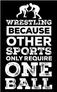 Damdekoli One Ball Wrestling Poster, 11x17 Inches, Artwork Wrestler Art Print, Sports Kids Room, Martial Arts
