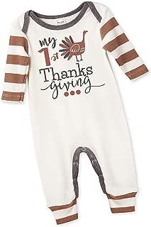 Thanksgiving Turkey Day Romper for Newborn & Toddlers Baby Boys & Girls, Multi