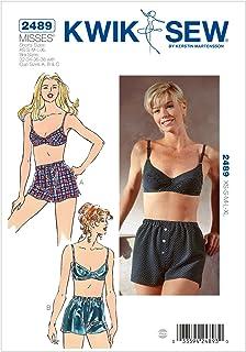 ブラジャーとボックスショーツの型紙セット サイズ: Shorts XS-S-M-L-XL. Bra 32-34-36-38 *2489