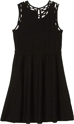 Contrast Trim Fit-and-Flare Dress (Big Kids)