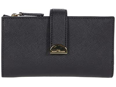 Marc Jacobs Half Moon Medium Wallet (Black) Wallet Handbags