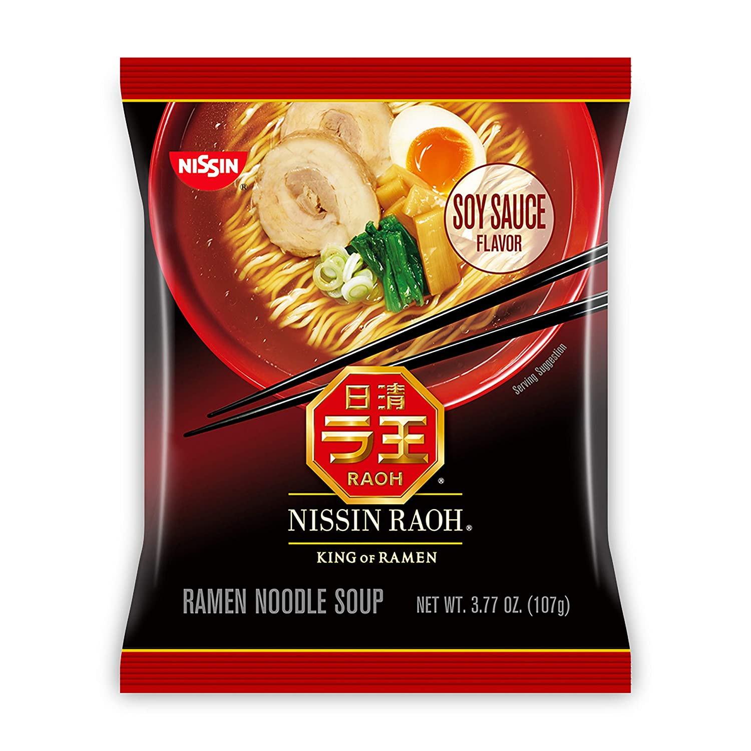 Nissin RAOH Ramen Noodle Soup Soy 6 Oakland Now on sale Mall of 3.77 Ounce Pack Sauce