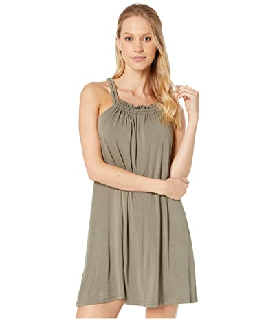 BCBGeneration Twist Back Tank Dress TJZ6214563 (Dusty Olive) Women