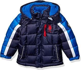 US Polo Association Boys' Little Bubble Jacket, Army...