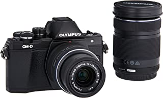 Olympus OM-D E-M10 Mark II Mirrorless Micro 4/3 Camera with 14-42mm and 40-150mm Lenses (Black)