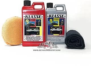 Autosmart Klasse 16.9oz Sealent Glaze & 16.9oz All in One w/Free Microfiber & Applicator