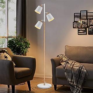 ZMH Lampadaire moderne de salon avec 3 flammes flexibles pour le cou et les yeux pour chambre et bureau Douille E27 max 25...