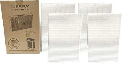 Nispira 4 True HEPA Replacement Filter R for Honeywell Air Purifier Models HPA300, HPA090, HPA100 and HPA200 Compared to HRF-R1 HRF-R2 HRF-R3