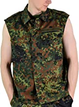 Original German Army Vest Zipped Fleck-tarn Camouflage Tactical Combat BW Military Issue