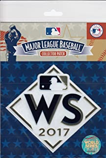2017 Baseball MLB World Series Baseballs Official PATCH Logo Jersey 5