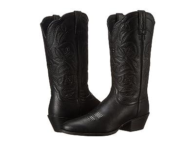 Ariat Heritage Western R-toe (Black Deertan) Cowboy Boots