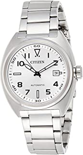 CITIZEN Mens Mechanical Watch, Analog Display and Stainless Steel Strap - NJ0100-89A