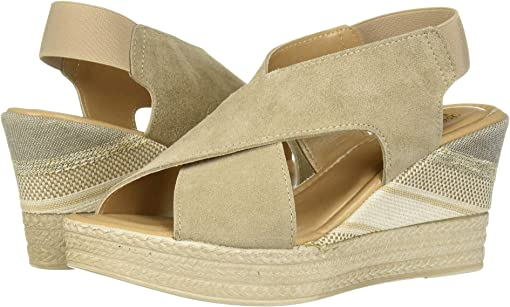 Light Taupe Italian Suede Leather