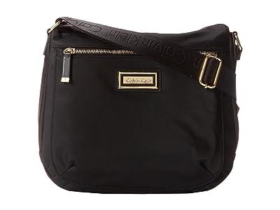 Calvin Klein Key Item Nylon Messenger H3JFE1CW (Black/Gold) Cross Body Handbags