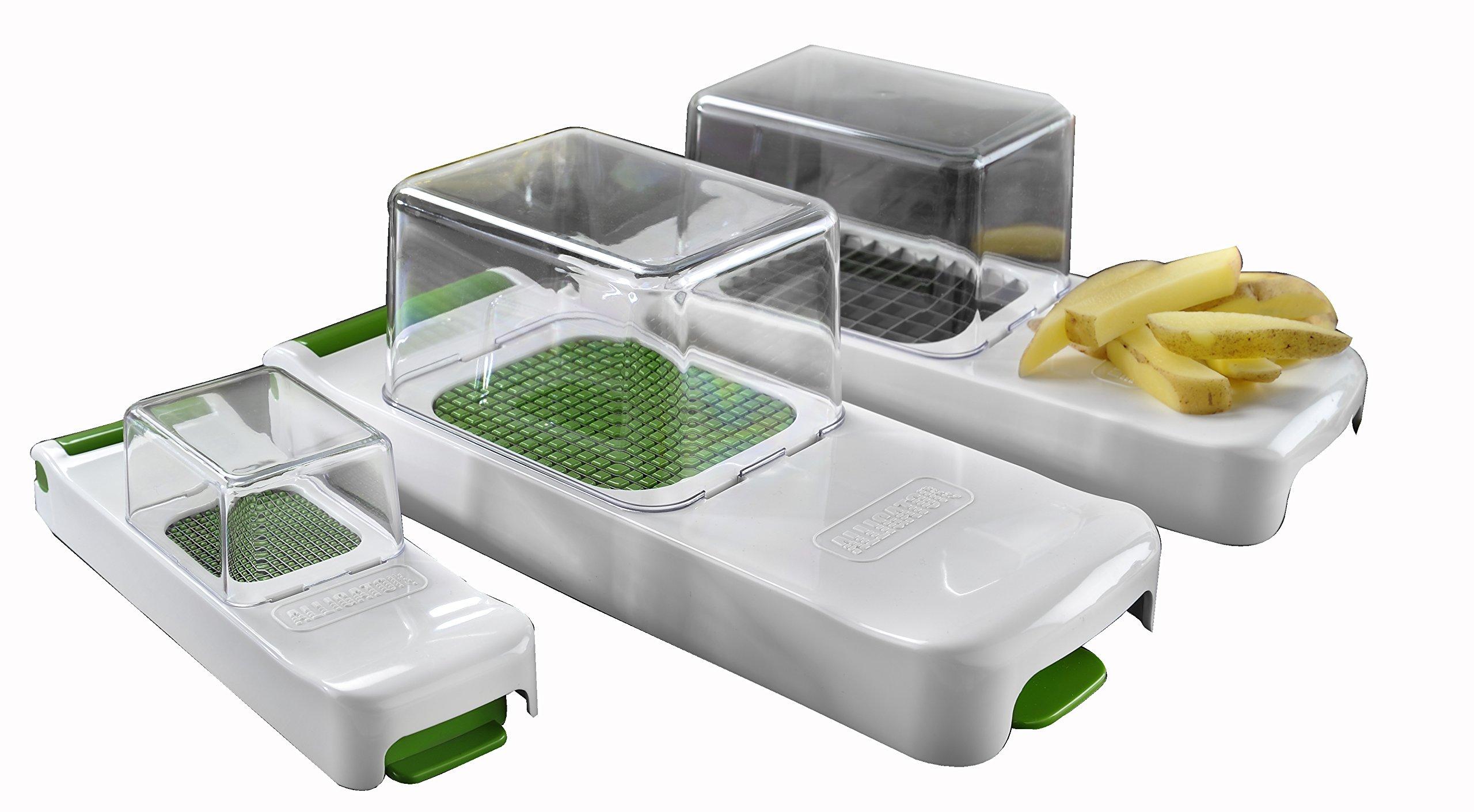Alligator 15 Family Cebolla, hortalizas y Frutas 15 Teilig Set, Utensilios  de Cocina para una rápida y Limpieza de Corte