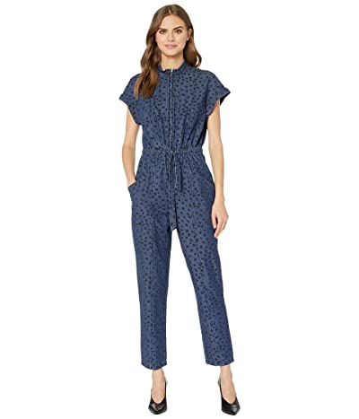 La Vie Rebecca Taylor Sleeveless Faune Denim Jumpsuit (Medium Indigo) Women