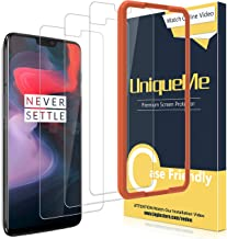 [3 Pack] UniqueMe for Oneplus 6 Screen Protector,[Alignment Frame][Japan Tempered Glass] with Lifetime Replacement Warranty