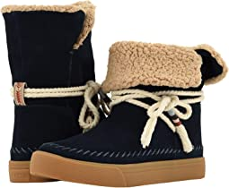 Navy Suede/Faux Shearling