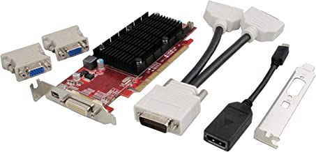 VisionTek Products Radeon 6350 SFF 1GB DDR3 3M DMS59 with 2X DVI-I to VGA Adapter Graphics Cards 900456