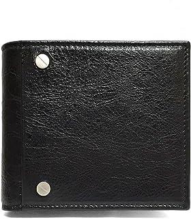 [バレンシアガ] 542001 CU504 1000 メンズ 二つ折り財布 スクエアコインウォレット レザー ブラック BALENCIAGA [並行輸入品]