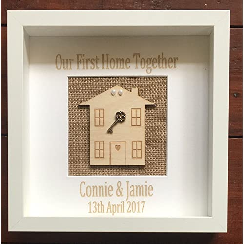 e8939eca6bc9 Acrylics Our First Home Together Key Frame Box - Custom Made   Personalised New  Home Gift
