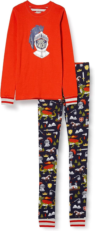 Hatley Boys' Organic Cotton Long Sleeve Appliqué Pajama Set