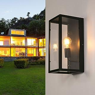LEDMO e27 Aplique de pared interior, Lámpara de pared con PC transparente y estructura de hierro, Max 60W. Luz pared decorativa Apliques rústico