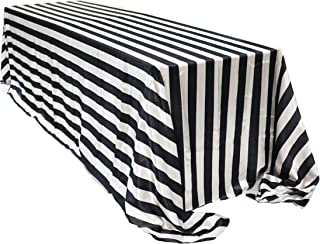 Best black and white striped cloth tablecloth Reviews