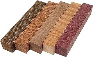 Red Tree Supply Pen Blank Pack: Bocote, Curly Maple, Leopardwood, Purple Heart, Walnut (5 pack)