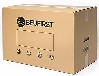 Packs de 5 ó 10 Cajas XL (550x350x350 mm) con Asas Canal Doble 5 Capas Alta Calidad Reforzado, muy Resistentes y Reutilizables. Cajas Mudanza, Transporte, o Almacenaje. 67 Litros (5)