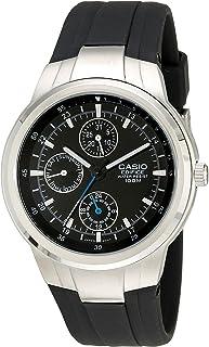 Casio EF305-1AV Edifice - Reloj multifunción con correa de resina negra, para hombre