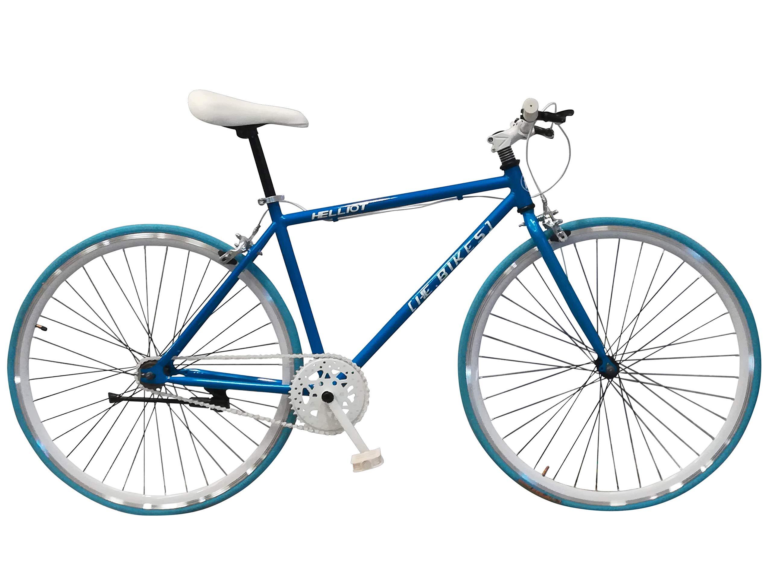 Helliot Bikes Soho 07 Bicicleta Fixie Urbana, Adultos Unisex, Azul ...