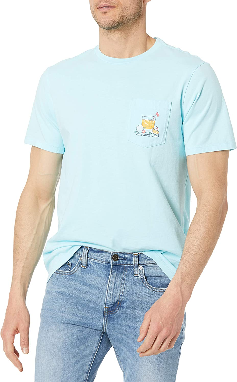 Vineyard Vines 激安卸販売新品 Men's Short Sleeve T-Shirt 19th Pocket 新着セール Hole