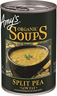 Amy's Organic Split Pea Soup, Low Fat, 14.1-Ounce, Pack of 12