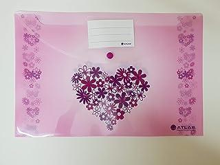 حقيبة ملفات من اطلس للأطفال - لون زهري AS-F1004LB6 (مفردة)