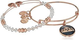 Women's Art Infusion Set Queen's Crown Bangle Bracelet, Shiny Rose, Expandable