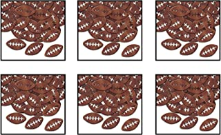 Beistle, 6 Packages Fanci-Fetti Footballs, 1 Ounce In Package, Total of 6 Ounces Confetti