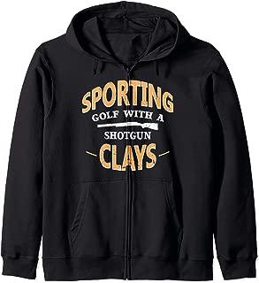 Sporting Clays Target Shooting Zip Hoodie