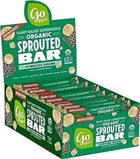 Go Raw Seed Bars, Spirulina Sesame | Gluten Free Snacks | Vegan | Organic | Paleo | Superfood (25 Large Bars)
