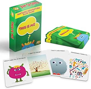 Cadily This is Me: Sentence Completion Therapy Games. Used As Social Skills Games. Counseling Games and School Games. Play Therapy Toys for Parents & Professionals to Teach Kids to Express Feelings