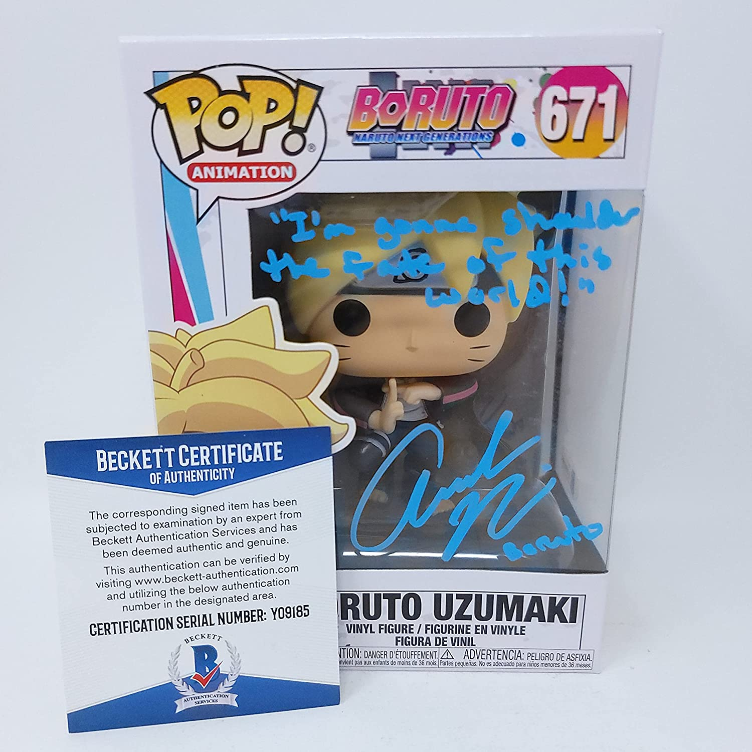 Japan's largest assortment Amanda Miller In a popularity signed Boruto Pop Anime Naruto Becke Figure