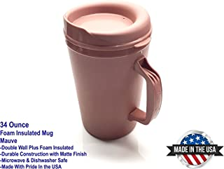 34oz. Thermoserv Foam Insulated Mug - Mauve Pink - Used in Hospitals