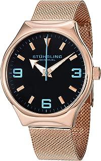 Men's 184.334451 Aviator Falcon Eagle Elite Swiss Quartz Rose Tone Watch