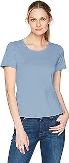 Ruby Rd. Womens 46156AB Scoop Neck 1x1 Rib Knit Cotton Short Sleeve Tee Short Sleeve T-Shirt