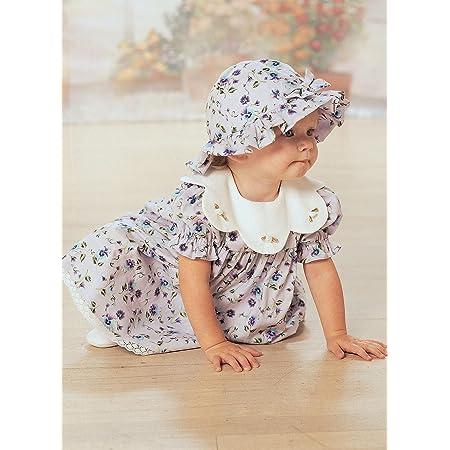 BUTTERICK Bébés Robe, Culotte, Combinaison et Chapeau - Toutes Tailles en Une Seule enveloppe Jacquard