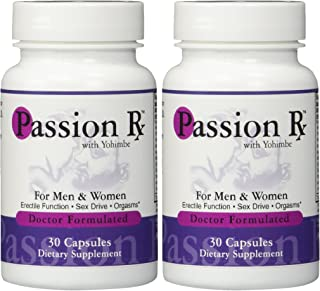 2 Bottles Passion Rx with Yohimbe, 30 Capsules - Formulated by Ray Sahelian, M.D