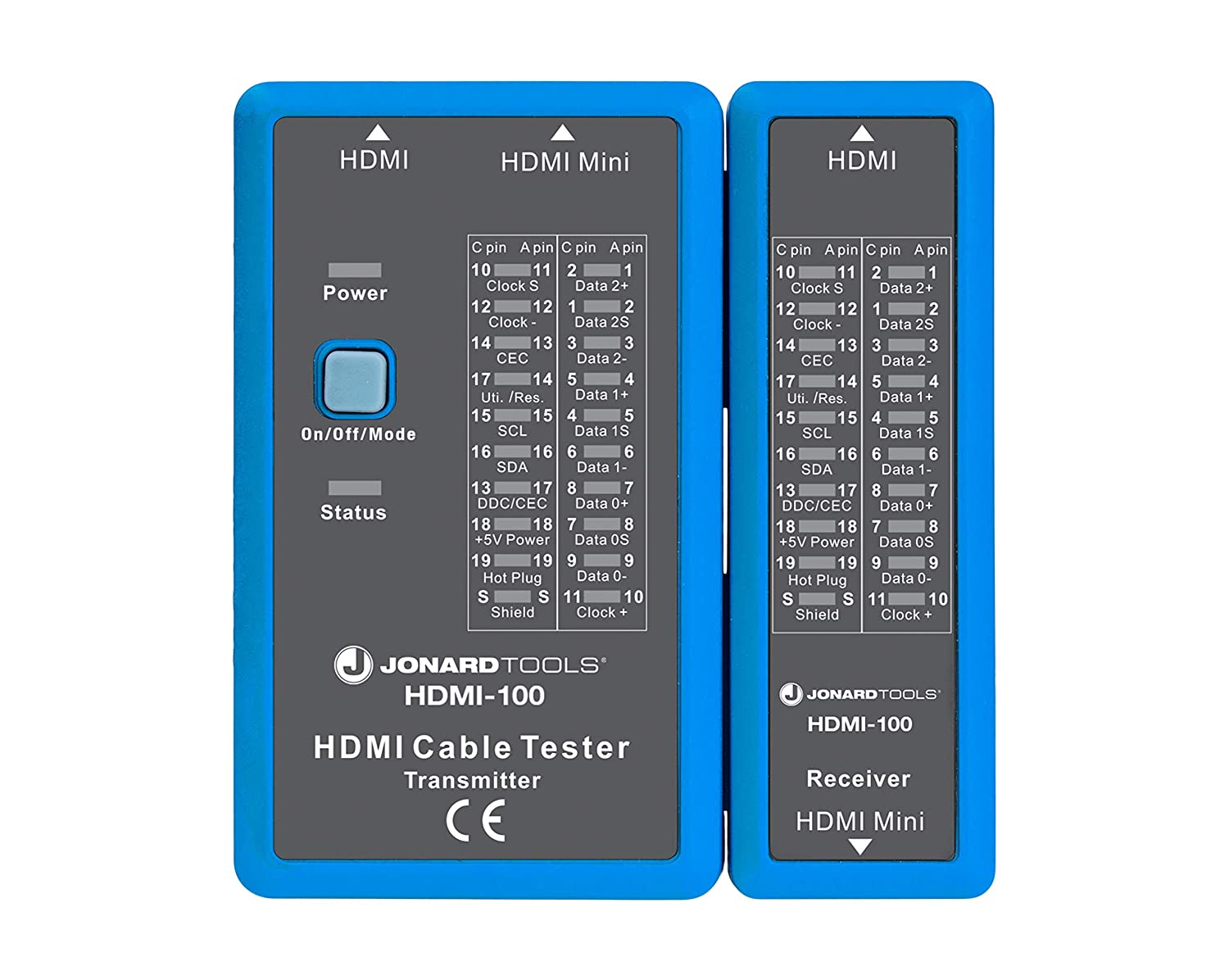 RICH Handheld Cable Tester,HDMI//Mini-HDMI HD Cable Tester,Portable High Definition Cable Tester Checker for Missing Lines,Short Circuits Breaks and Crosses,18x11x15cm